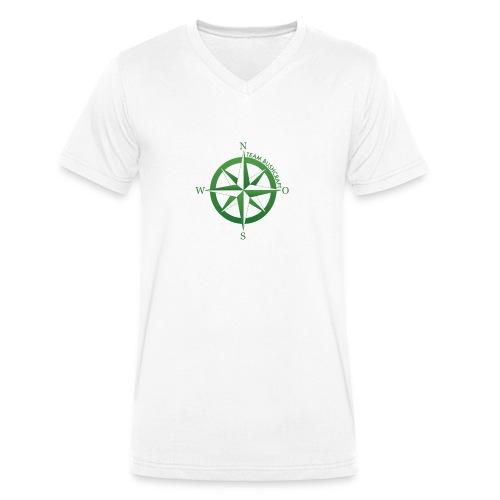 Team Bushcraft Kompass - Männer Bio-T-Shirt mit V-Ausschnitt von Stanley & Stella