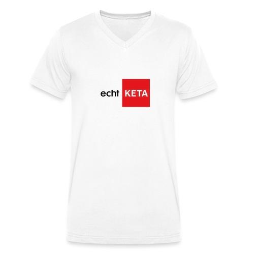 echt KETA - Mannen bio T-shirt met V-hals van Stanley & Stella