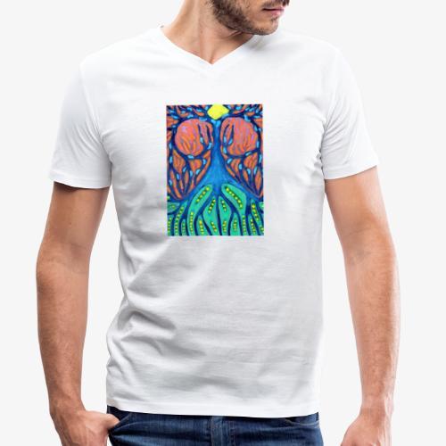 Drapieżne Drzewo - Ekologiczna koszulka męska z dekoltem w serek Stanley & Stella