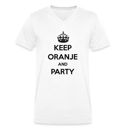 KEEP ORANJE AND PARTY - Mannen bio T-shirt met V-hals van Stanley & Stella