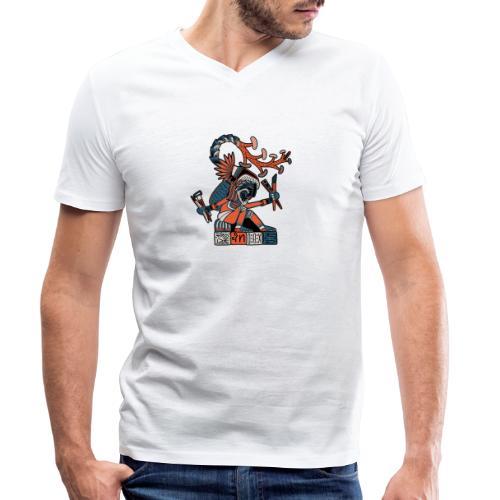 MAESTRO MEZCALERO PREHISPÁNICO - Camiseta ecológica hombre con cuello de pico de Stanley & Stella