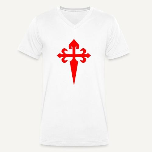 cross santiago - Ekologiczna koszulka męska z dekoltem w serek Stanley & Stella
