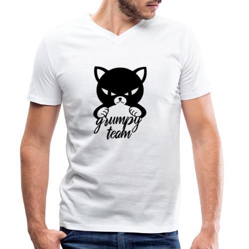 grumpy team - Männer Bio-T-Shirt mit V-Ausschnitt von Stanley & Stella