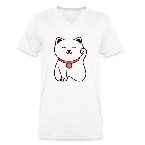 Chat mignon - T-shirt bio col V Stanley & Stella Homme