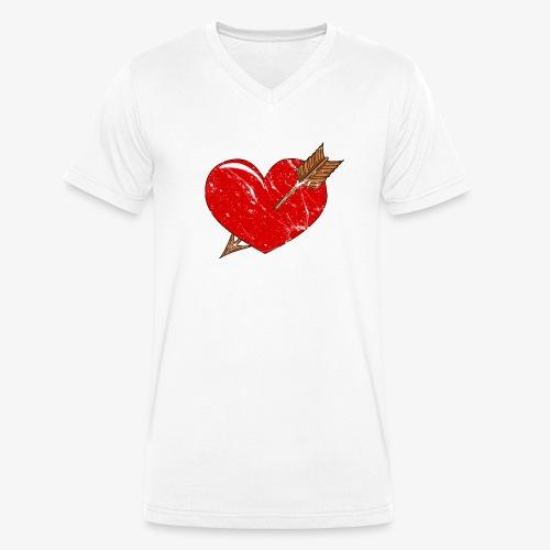 Herz Pfeil - Männer Bio-T-Shirt mit V-Ausschnitt von Stanley & Stella