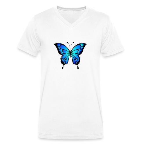 Mariposa - Camiseta ecológica hombre con cuello de pico de Stanley & Stella