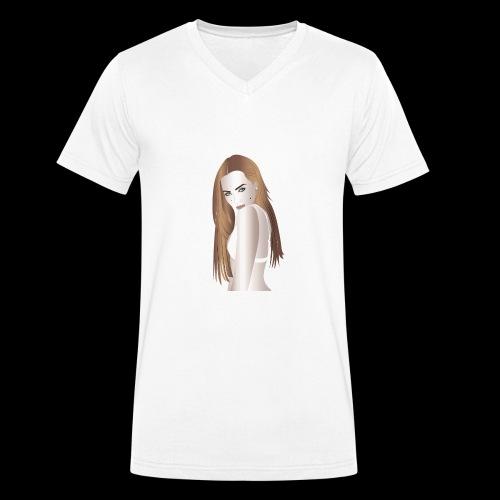 illustrazione - T-shirt ecologica da uomo con scollo a V di Stanley & Stella
