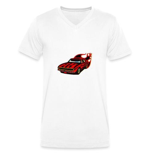 auto fahrzeug rennwagen - Männer Bio-T-Shirt mit V-Ausschnitt von Stanley & Stella