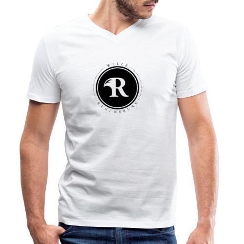 Welle Regensburg Logo - Männer Bio-T-Shirt mit V-Ausschnitt von Stanley & Stella