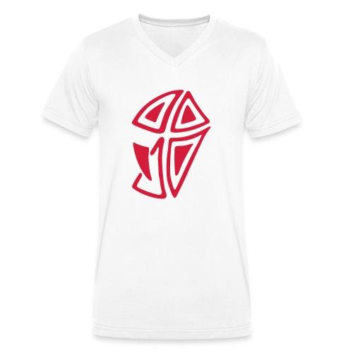Mini Logo I - Männer Bio-T-Shirt mit V-Ausschnitt von Stanley & Stella