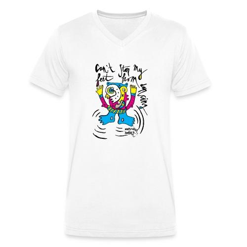 can't stop my feet - Mannen bio T-shirt met V-hals van Stanley & Stella
