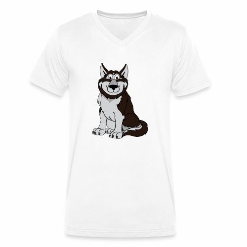 Husky - Männer Bio-T-Shirt mit V-Ausschnitt von Stanley & Stella
