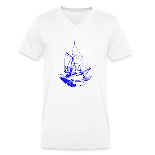 Siluette GIF - Männer Bio-T-Shirt mit V-Ausschnitt von Stanley & Stella