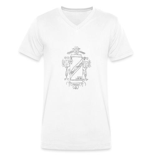 Red Stripe - Men's Organic V-Neck T-Shirt by Stanley & Stella