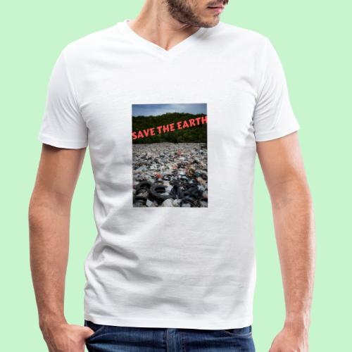save the earth - T-shirt bio col V Stanley & Stella Homme