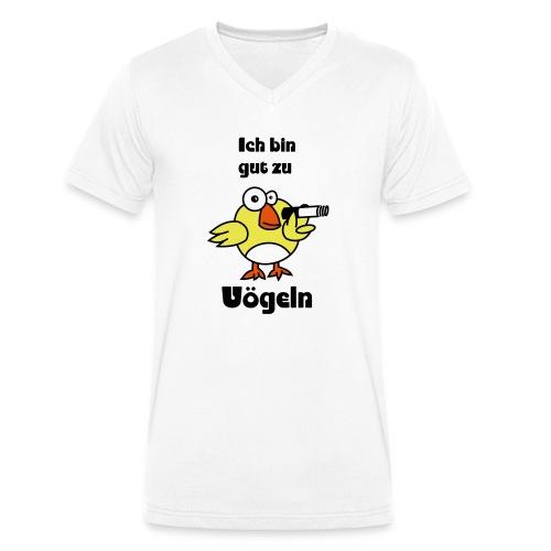 Gut zu Vögeln - Männer Bio-T-Shirt mit V-Ausschnitt von Stanley & Stella