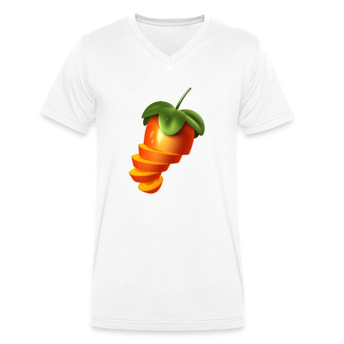 Sliced Sweaty Fruit - Men's Organic V-Neck T-Shirt by Stanley & Stella