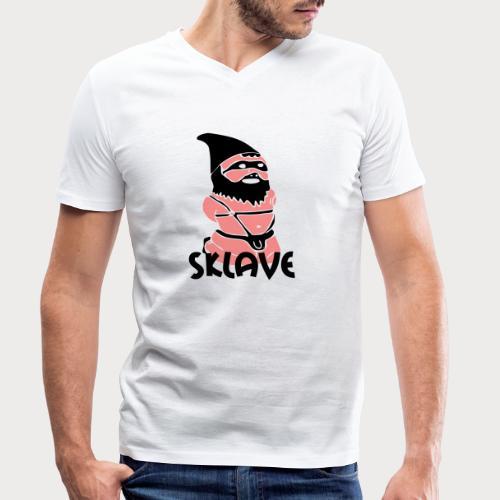 sklave zwerg - Männer Bio-T-Shirt mit V-Ausschnitt von Stanley & Stella