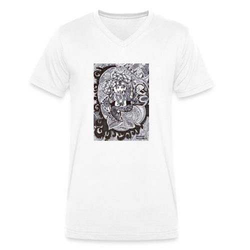 Psychedelic Ganesha - T-shirt ecologica da uomo con scollo a V di Stanley & Stella