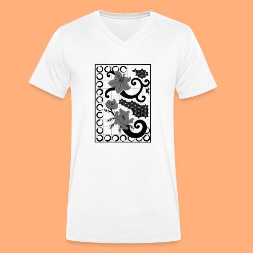 fleurs et graphisme - T-shirt bio col V Stanley & Stella Homme