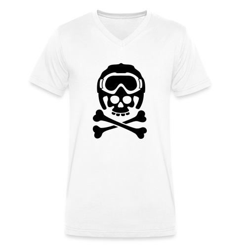 snowboard totenkopf1 - Männer Bio-T-Shirt mit V-Ausschnitt von Stanley & Stella