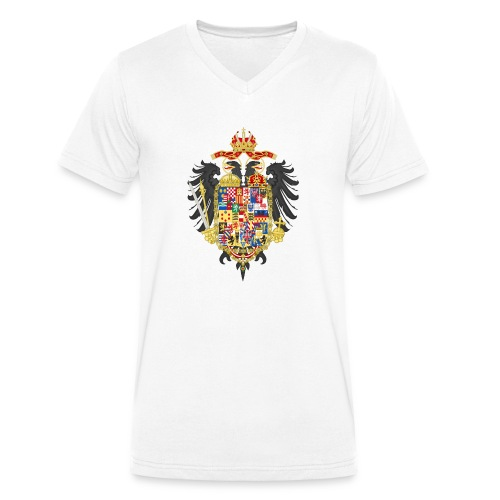Bundesadler Doppeladler Deutschland Kaiser Joseph - Männer Bio-T-Shirt mit V-Ausschnitt von Stanley & Stella