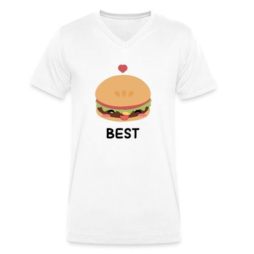 hamburger - T-shirt ecologica da uomo con scollo a V di Stanley & Stella