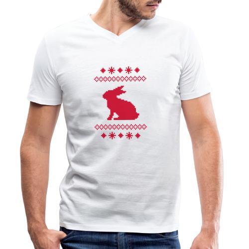 Norwegerhase hase kaninchen häschen bunny langohr - Männer Bio-T-Shirt mit V-Ausschnitt von Stanley & Stella