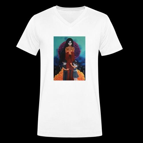 los fieles difuntos - Men's Organic V-Neck T-Shirt by Stanley & Stella
