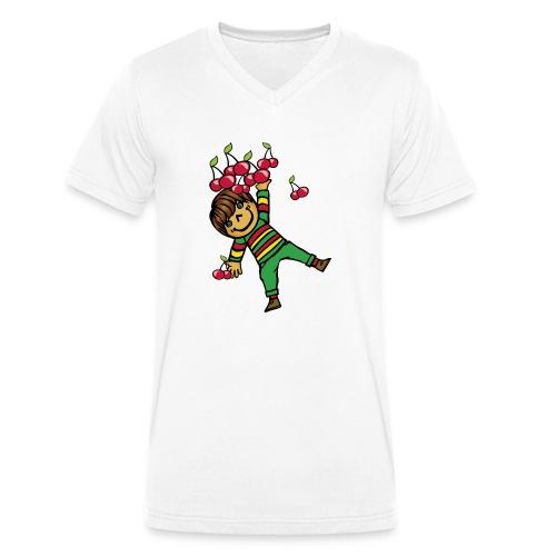 08 kinder kapuzenpullover hinten - Männer Bio-T-Shirt mit V-Ausschnitt von Stanley & Stella