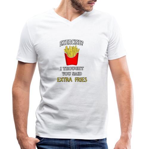 Extra Fries - Männer Bio-T-Shirt mit V-Ausschnitt von Stanley & Stella