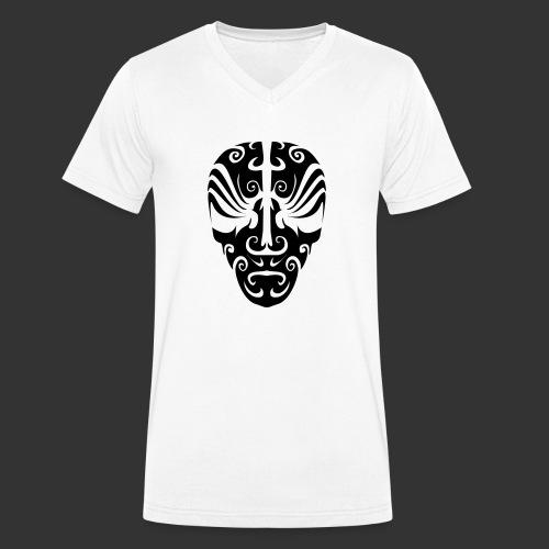 Maoriskull - Männer Bio-T-Shirt mit V-Ausschnitt von Stanley & Stella