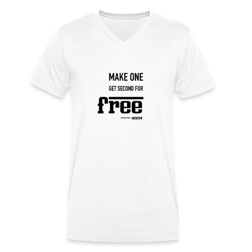 TWINS. make one get second for free - Männer Bio-T-Shirt mit V-Ausschnitt von Stanley & Stella