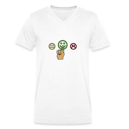 optimismo - Camiseta ecológica hombre con cuello de pico de Stanley & Stella