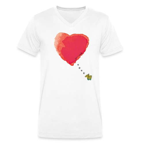Janoschs Tigerente hat nur Liebe im Sinn MP - Männer Bio-T-Shirt mit V-Ausschnitt von Stanley & Stella