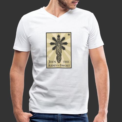 Join the Army of Swort - Men's Organic V-Neck T-Shirt by Stanley & Stella
