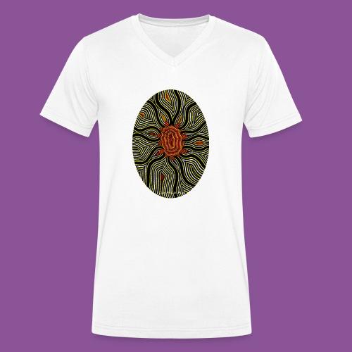 Aura 11 - Männer Bio-T-Shirt mit V-Ausschnitt von Stanley & Stella