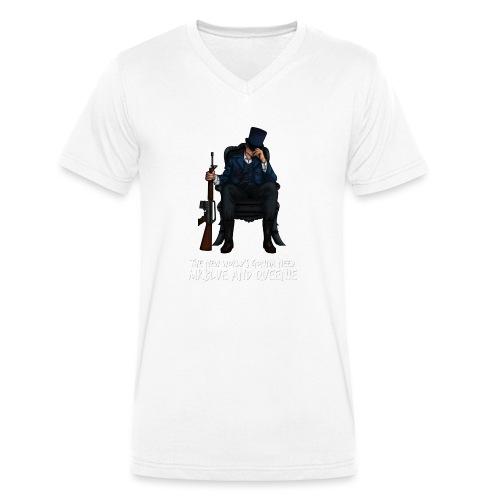 MrBlue's New World - Men's Organic V-Neck T-Shirt by Stanley & Stella
