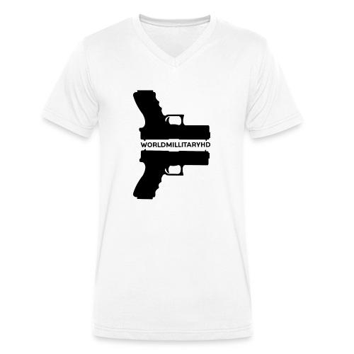 WorldMilitaryHD Glock design (black) - Mannen bio T-shirt met V-hals van Stanley & Stella