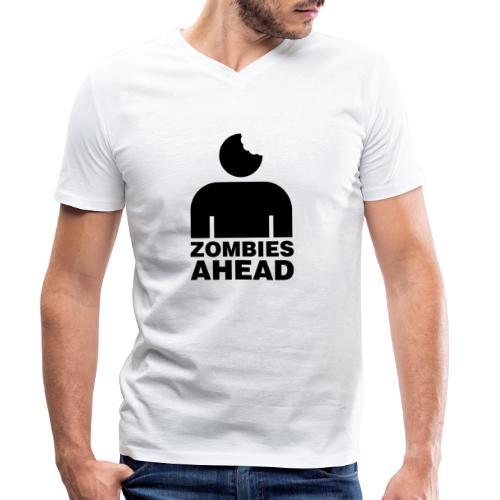 Zombies Ahead - Ekologisk T-shirt med V-ringning herr från Stanley & Stella
