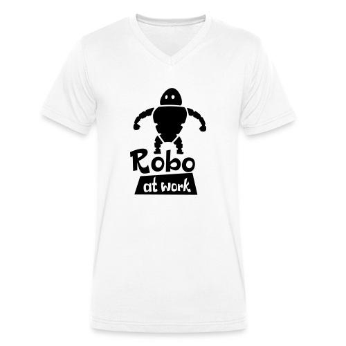 robot at work - Männer Bio-T-Shirt mit V-Ausschnitt von Stanley & Stella