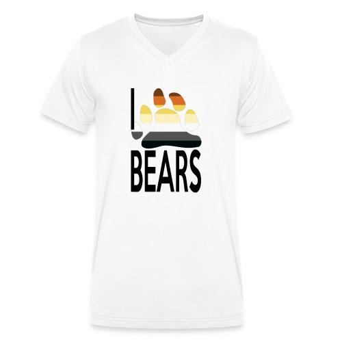 I love bears - T-shirt bio col V Stanley & Stella Homme