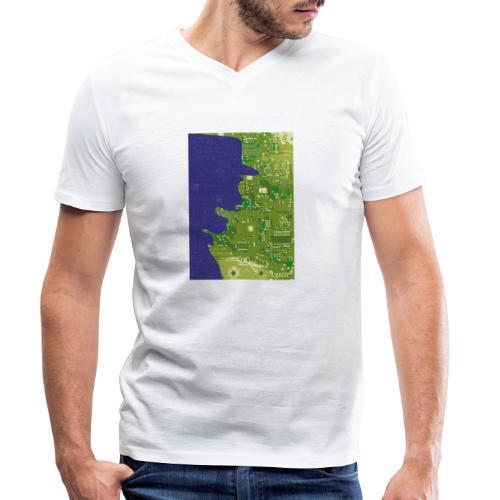 Rinus Van De Melkwegboer - Mannen bio T-shirt met V-hals van Stanley & Stella