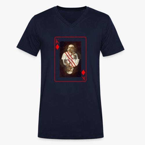 Kaiser Franz von Österreich spielkarte - Männer Bio-T-Shirt mit V-Ausschnitt von Stanley & Stella