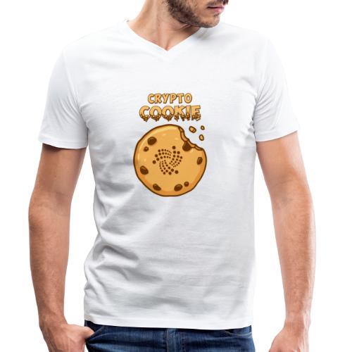 Crypto Cookie - IOTA - BTC, Bitcoin - Keks - Männer Bio-T-Shirt mit V-Ausschnitt von Stanley & Stella
