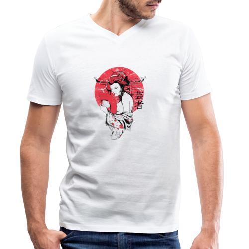 Japan Sonne - Männer Bio-T-Shirt mit V-Ausschnitt von Stanley & Stella