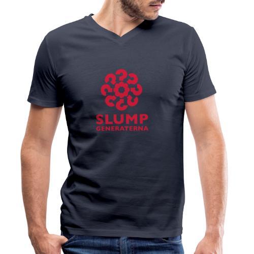 Slumpgeneraterna, logo röd - Ekologisk T-shirt med V-ringning herr från Stanley & Stella