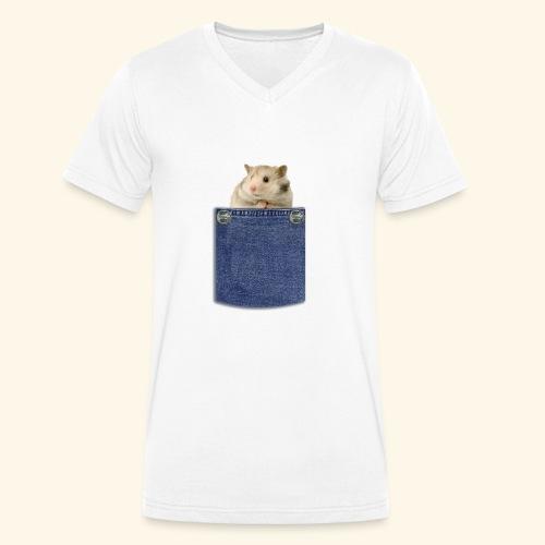hamster in the poket - T-shirt ecologica da uomo con scollo a V di Stanley & Stella
