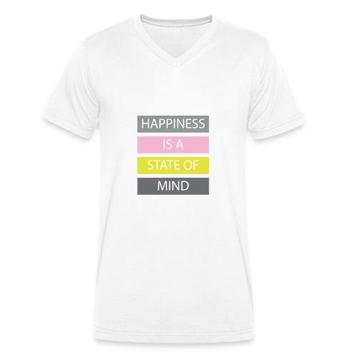 Happiness - Men's Organic V-Neck T-Shirt by Stanley & Stella