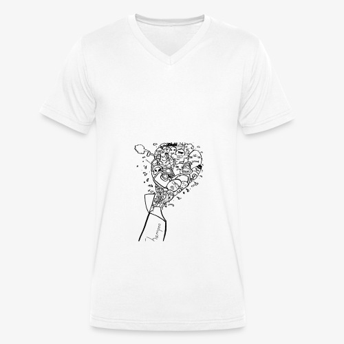 shampoo doodles - Men's Organic V-Neck T-Shirt by Stanley & Stella